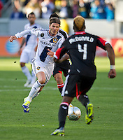 CARSON, CA - March 18,2012: LA Galaxy midfielder David Beckham (23) during the LA Galaxy vs DC United match at the Home Depot Center in Carson, California. Final score LA Galaxy 3, DC United 1.