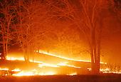 Grass fire in Minnesota.