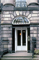 Edinburgh: Moray Place, No. 22. New City. Look closely on the left by door for boot scraper. Photo '87.