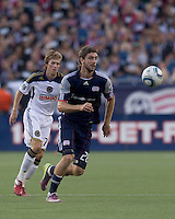 New England Revolution midfielder Stephen McCarthy (26) attempts to control the ball. In a Major League Soccer (MLS) match, the Philadelphia Union defeated the New England Revolution, 3-0, at Gillette Stadium on July 17, 2011.