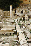 Remains of Apollo Temple bath and a water pipe. Ancient city Amathus in Cyprus.