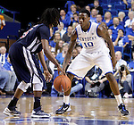 Freshman Archie Goodwin plays defense on Samford guard Russell Wilson during the second half of the Men's Basketball game vs. Samford at the Rupp Arena in Lexington, Ky., on Tuesday, December 4th, 2012..