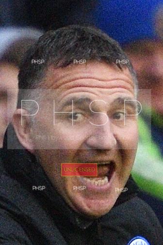 25/02/2017 Sky Bet Championship Wigan Athletic v Nottingham Forest<br /> <br /> Wigan Athletic manager, Warren Joyce