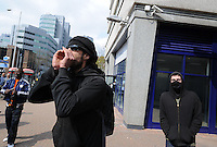 BNP activists hold a protest in Croydon outside the UK Border agency. Acounter protest was called by Unite Against Fascism and the PCS Trade Union. There were also scuffles between the Police and ANTIFA activists.