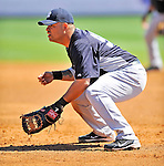 12 March 2011: New York Yankees' infielder Jorge Vazquez in action during a Spring Training game against the Washington Nationals at Space Coast Stadium in Viera, Florida. The Nationals edged out the Yankees 6-5 in Grapefruit League action. Mandatory Credit: Ed Wolfstein Photo