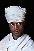 Melese Anawte, an Orthodox Christian priest at Bet Meskel Church, Lalibela, Omo Valley, Ethiopia 2006