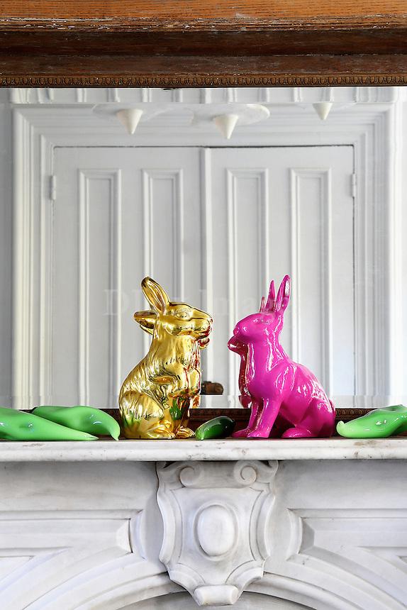 rabbits ornaments