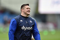 Shaun Knight of Bath Rugby looks on during the pre-match warm-up. Aviva Premiership match, between Sale Sharks and Bath Rugby on May 6, 2017 at the AJ Bell Stadium in Manchester, England. Photo by: Patrick Khachfe / Onside Images