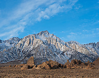Lone pine peak and Alabama hills, Sierra Nevada mountains, California