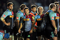 Danny Care of Harlequins looks on. Aviva Premiership match, between Harlequins and Sale Sharks on November 6, 2015 at the Twickenham Stoop in London, England. Photo by: Patrick Khachfe / Onside Images