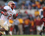 Lafayette High's D.K. Buford (2) makes a touchdown reception vs. Laurel in the MHSAA Class 4A championship game at Mississippi Veterans Memorial Stadium in Jackson, Miss. on Saturday, December 3, 2011. Lafayette won 39-29, the team's 32 straight win, to capture their second consecutive state championship.