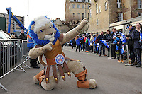 Bath Rugby mascot Maximus poses for the camera. Aviva Premiership match, between Bath Rugby and Northampton Saints on December 5, 2015 at the Recreation Ground in Bath, England. Photo by: Patrick Khachfe / Onside Images