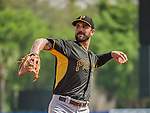 22 March 2015: Pittsburgh Pirates infielder Andrew Lambo warms up prior to a Spring Training game against the Houston Astros at Osceola County Stadium in Kissimmee, Florida. The Astros defeated the Pirates 14-2 in Grapefruit League play. Mandatory Credit: Ed Wolfstein Photo *** RAW (NEF) Image File Available ***