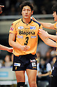 Yusuke Ishijima (Blazers), MARCH 5, 2011 - Volleyball : 2010/11 Men's V.Premier League match between F.C.Tokyo 0-3 Sakai Blazers at Tokyo Metropolitan Gymnasium in Tokyo, Japan. (Photo by AZUL/AFLO).
