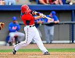 10 March 2012: Washington Nationals' infielder Blake Kelso in action against the New York Mets at Space Coast Stadium in Viera, Florida. The Nationals defeated the Mets 8-2 in Grapefruit League play. Mandatory Credit: Ed Wolfstein Photo