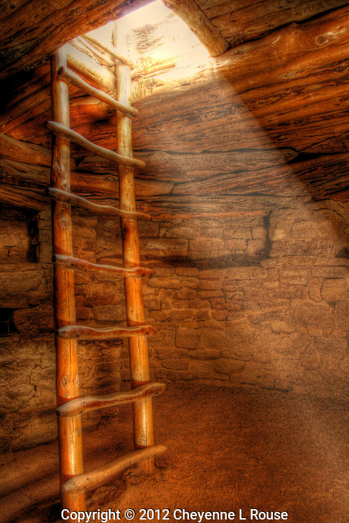 Kiva ladder - Spruce Tree House - Mesa Verde NP, Colorado<br /> &copy; 2012 Cheyenne L Rouse/All rights reserved