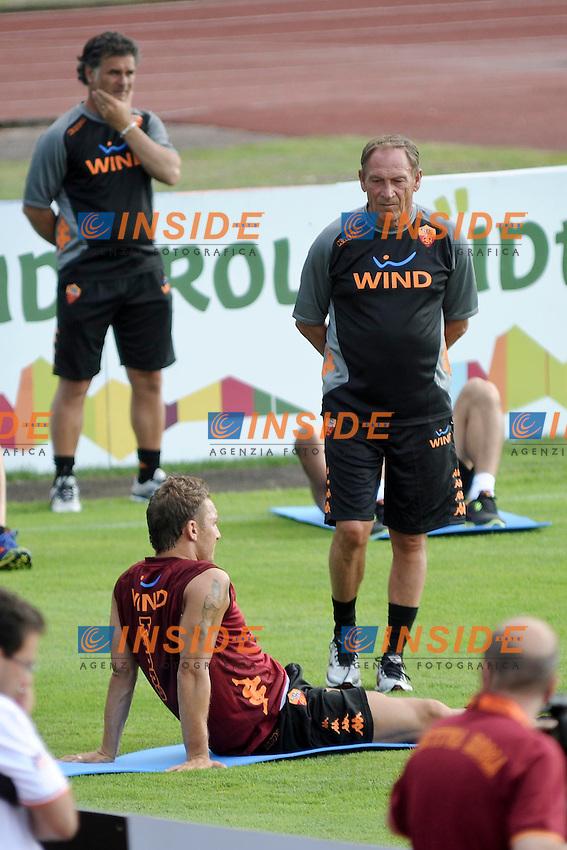 Zdenek Zeman e Francesco Totti.Riscone di Brunico (BZ) 05/07/2012 Allenamento As Roma.Football Calcio 2012/2013 .Foto Insidefoto Christian Mantuano