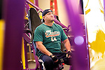 WATERBURY, CT 02 January 2008-010209SV02--Ed Droney of Wolcott works out at Planet Fitness on Wolcott Street in Waterbury Friday.<br /> Steven Valenti Republican-American