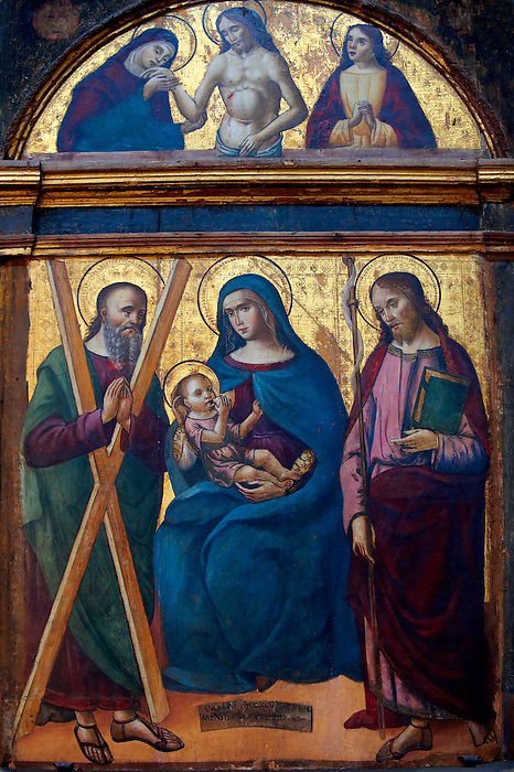 wood panel with The Virgin Mary and Child - Amalfi Cathedral Museum, Italy