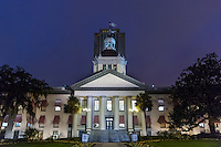 TALLAHASSEE, FLA. 3/4/15-The Historic Capitol building of Florida as seen at night in Tallahassee.<br /><br />COLIN HACKLEY PHOTO