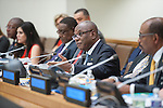 Event on ending the AIDS epidemic by 2030&mdash;shaping new models and means of implementation<br /> <br /> Speakers:<br /> <br /> HE Uhuru Kenyatta, President of Kenya, co-host   <br /> HE Peter Mutharika, President of Malawi, co-host<br /> HE Ibrahim Boubacar Ke&iuml;ta, President of Mali <br /> HE Timothy Harris, Prime Minister of St Kitts and Nevis <br /> Michel Sidib&eacute;, Executive Director of UNAIDS<br /> Ms Heather Higginbottom, Deputy Secretary of State for Management and Resources of US <br /> Ms Charlize Theron, Messenger of Peace for the United Nations and founder of CTAOP <br /> Ms Karen Dunaway, Civil Society Representative