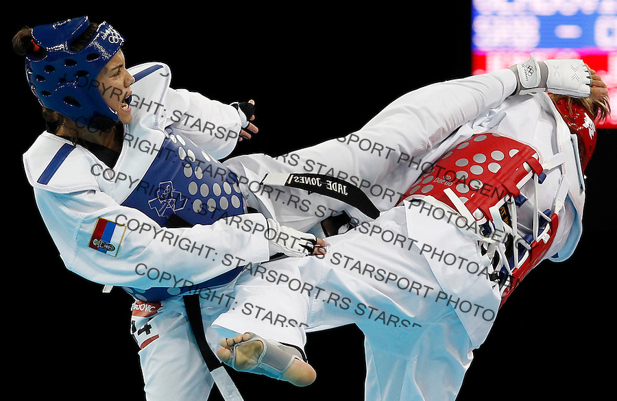 Olympic games London 2012.Taekwondo, Tekvondo.Dragan Gladovic SRB v Jade Jones GBR.London, 09.08.2012..foto: Srdjan Stevanovic/Starsportphoto ©