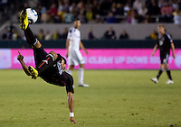 DC United midfielder Andy Najar completes a Chileno. The LA Galaxy defeated DC United 2-1at Home Depot Center stadium in Carson, California on Saturday September 18, 2010.