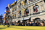 FDJ team on stage at sign on before the 101st edition of the Tour of Flanders 2017 running 261km from Antwerp to Oudenaarde, Flanders, Belgium. 26th March 2017.<br /> Picture: Eoin Clarke | Cyclefile<br /> <br /> <br /> All photos usage must carry mandatory copyright credit (&copy; Cyclefile | Eoin Clarke)