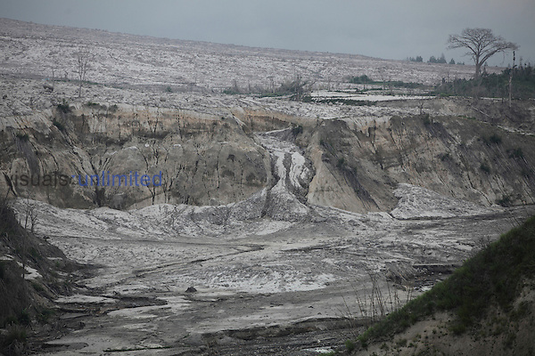 Pyroclastic flow and lahar deposits, Sinabung Volcano, Indonesia