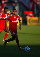 01 July 2010:  Toronto FC forward Dwayne De Rosario #14 in action during a game between the Houston Dynamo and the Toronto FC at BMO Field in Toronto..Final score was 1-1....
