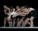 London, UK. 01/02/2011. American Ballet Theatre make a return to Sadler's Wells with two programmes of pieces. the mixed bill includes the UK premieres of Alexei Ratmansky's &quot;Seven Sonatas&quot; and &quot;Everything Doesn't Happen at Once&quot; by Benjamin Millepied. Completing programme one is Twyla Tharp's &quot;Known by Heart&quot; pas de deux and George Balanchine's &quot;Duo Concertant&quot;, set to music by Igor Stravinsky. Principal Daniil Simkin in the arms of the corps. Picture credit should read: Jane Hobson
