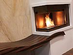 Gas fireplace. Interior design