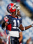 1 November 2009: Buffalo Bills' wide receiver Roscoe Parrish warms up prior to a game against the Houston Texans at Ralph Wilson Stadium in Orchard Park, New York, USA. The Texans defeated the Bills 31-10. Mandatory Credit: Ed Wolfstein Photo