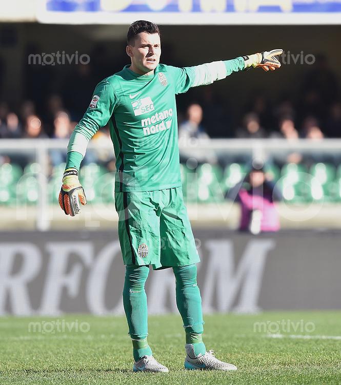 FUSSBALL INTERNATIONAL   SERIE A  13. Spieltag  SAISON 2015/2016 Hellas Verona - AS Rom   22.11.2015 Torwart Rafael de Andrade (Hellas Verona)