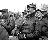 Audience reaction to the Bob Hope show at Seoul, Korea.  October 23, 1950.  Capt. Bloomquist. (Army)<br /> NARA FILE #  111-SC-351580<br /> WAR &amp; CONFLICT BOOK #:  1470