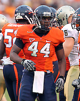 Sept. 3, 2011 - Charlottesville, Virginia - USA; Virginia Cavaliers linebacker Henry Coley (44) during an NCAA football game against William & Mary at Scott Stadium. Virginia won 40-3. (Credit Image: © Andrew Shurtleff