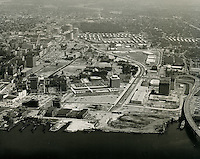 1964 August 08..Aerial.Downtown South (R-9)..Norfolk Financial Center.Young Park.Tidewater Gardens.Calvert Square..VU Photos.NEG# 572.NRHA# 1082-B1..