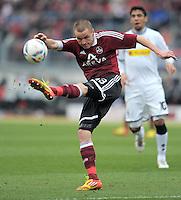 FUSSBALL   1. BUNDESLIGA  SAISON 2011/2012   24. Spieltag 1. FC Nuernberg - Borussia Moenchengladbach      04.03.2012 Adam Hlousek (1 FC Nuernberg)