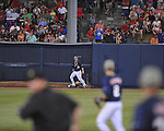 Ole Miss' Tanner Mathis (12) watches a home run by LSU's Grant Dozar clear the fence in Oxford, Miss. on Friday, May 4, 2012. LSU won 4-3 in 13 innings.