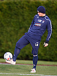 Midfielder - cum - defender Lee McCulloch practises his balance