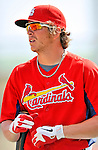 3 March 2011: St. Louis Cardinals' outfielder Colby Rasmus awaits his turn in the batting cage prior to a Spring Training game against the Washington Nationals at Roger Dean Stadium in Jupiter, Florida. The Cardinals defeated the Nationals 7-5 in Grapefruit League action. Mandatory Credit: Ed Wolfstein Photo