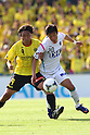 (L to R) .Hideaki Kitajima (Reysol), .Yeo Sung Hye (Sagan), .APRIL 28, 2012 - Football /Soccer : .2012 J.LEAGUE Division 1 .between Kashiwa Reysol 1-1 Sagan Tosu .at Kashiwa Hitachi Stadium, Chiba, Japan. .(Photo by YUTAKA/AFLO SPORT) [1040]