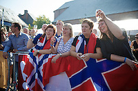 Thor-fans salute retiring rider Thor Hushovd (NOR/BMC) at the start of his farewell  <br /> <br /> GP Impanis 2014