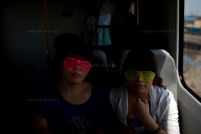 Beijingers take the new high-speed train to Tainjin, China on Friday, August 15, 2008.  Kevin German