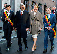 King Philippe & Queen Mathilde of Belgium attend the kick-off of 'Mons 2015 EU Capital of Culture