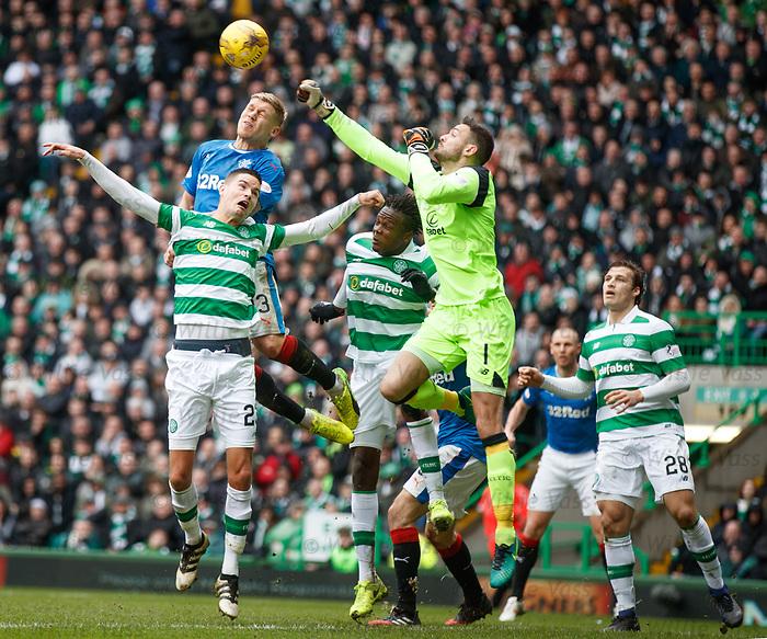 Craig Gordon punches clear from Martyn Waghorn