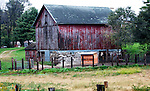 A collection of Barns that still can be seen while traveling the countryside in  the beautiful State of Wisconsin.<br /> Pepin County- small red barn brick bottom, County J, west of Pine Creek Rd.