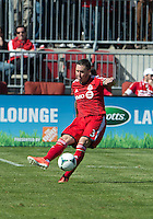 30 March 2013: Toronto FC defender Danny Califf #3 in action during an MLS game between the LA Galaxy and Toronto FC at BMO Field in Toronto, Ontario Canada..The game ended in a 2-2 draw..