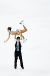 TAIPEI, TAIWAN - JANUARY 22:  Wenjing Sui and Cong Han of China compete in the Pairs Short Program event during the Four Continents Figure Skating Championships on January 22, 2014 in Taipei, Taiwan.  Photo by Victor Fraile / Power Sport Images *** Local Caption *** Wenjing Sui; Cong Han