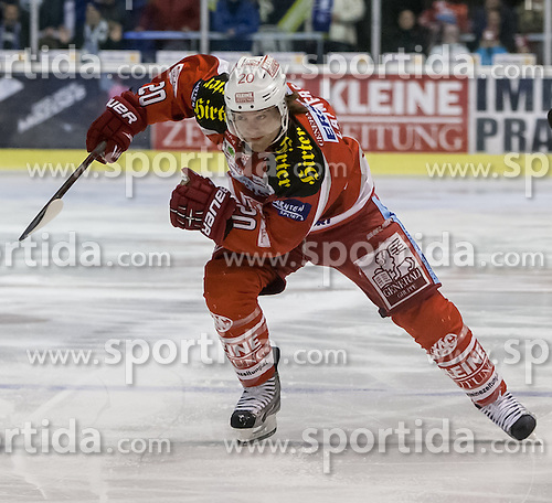 19.02.2013, Stadthalle, Klagenfurt, AUT, EBEL, EC KAC vs KHL Medvescak Zagreb, 9. Platzierungsrunde, im Bild John Lammers (Kac, #20) // during the Erste Bank Icehockey League 9th placement Round match between EC KAC and KHL Medvescak Zagreb at the City Hall, Klagenfurt, Austria on 2013/02/19. EXPA Pictures © 2013, PhotoCredit: EXPA/ Mag. Gert Steinthaler